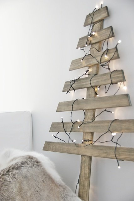 wall wooden christmas tree - Wood Christmas Tree