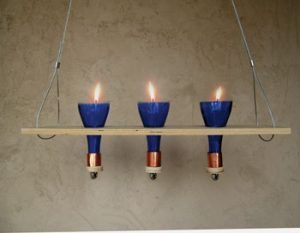 Wine Bottle Candelabra Idea