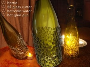Wine Bottle Hurricane Candle Holders