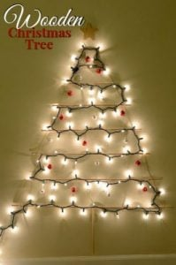 Wooden Christmas Tree Craft