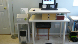DIY Standing Desk on Top of Desk