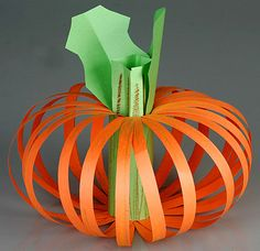 Construction Paper Pumpkin