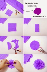 Crepe Paper Flower Step by Step
