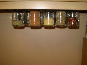 DIY Pull out Spice Rack