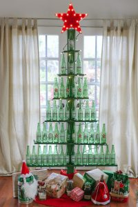 DIY Wine Bottle Christmas Tree