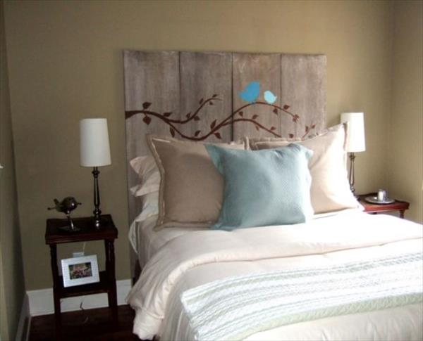 27 diy pallet headboard ideas guide patterns for Modern headboard diy