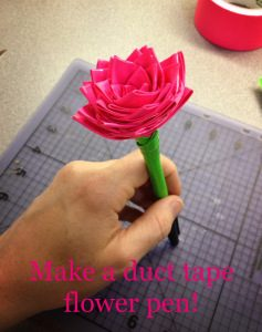 Duct Tape Rose Pen Instructions