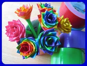 Duct Tape Rose Pencil Toppers