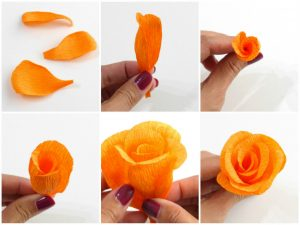 How to Make a Flower out of Crepe Paper