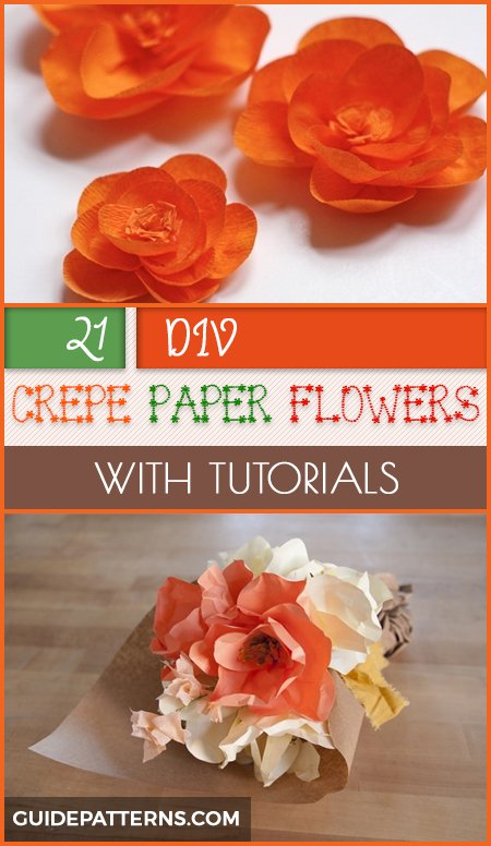 20 diy crepe paper flowers with tutorials