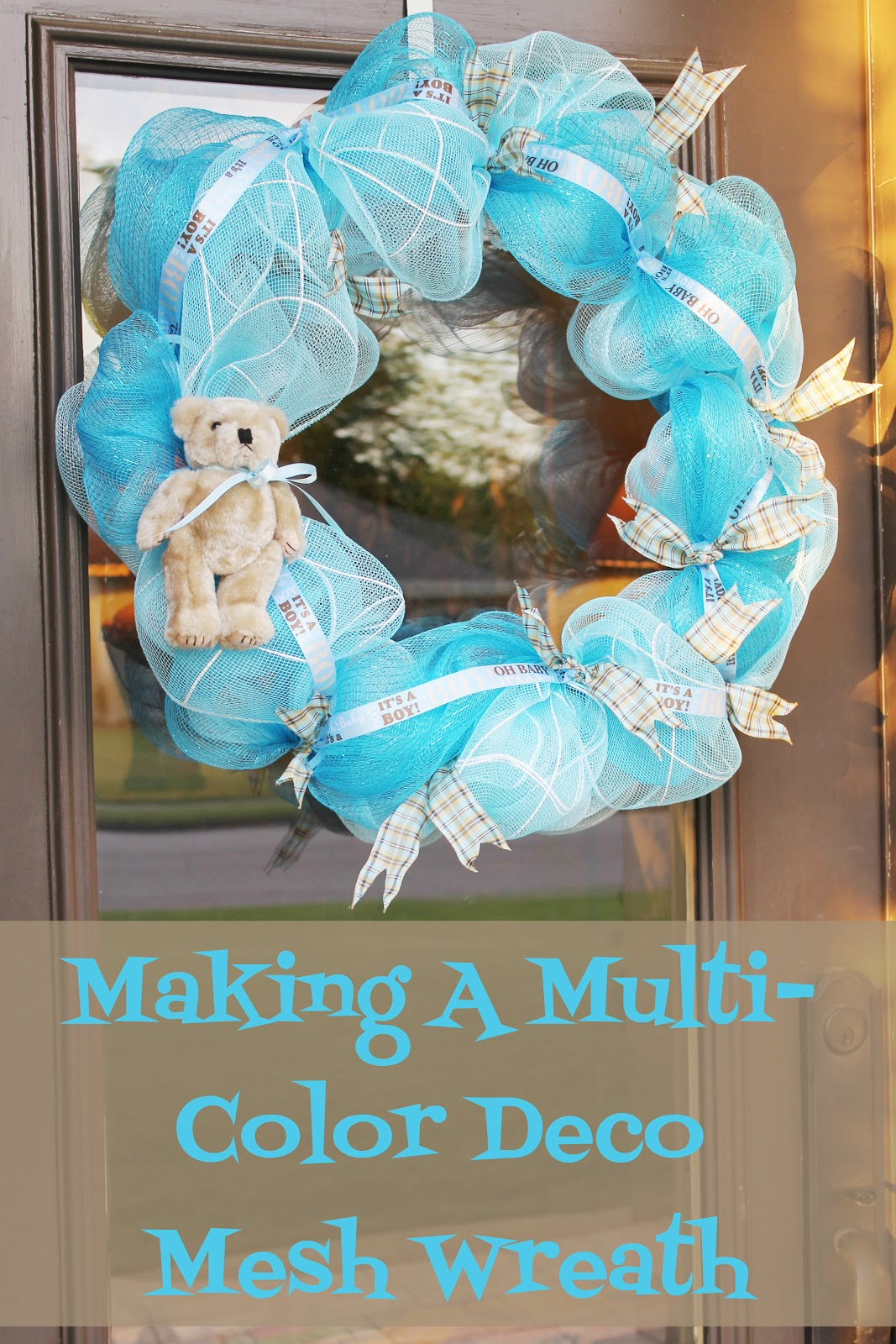 Geo mesh wreath form - How To Make A Deco Mesh Wreath