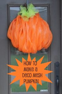 How to Make a Mesh Pumpkin Wreath