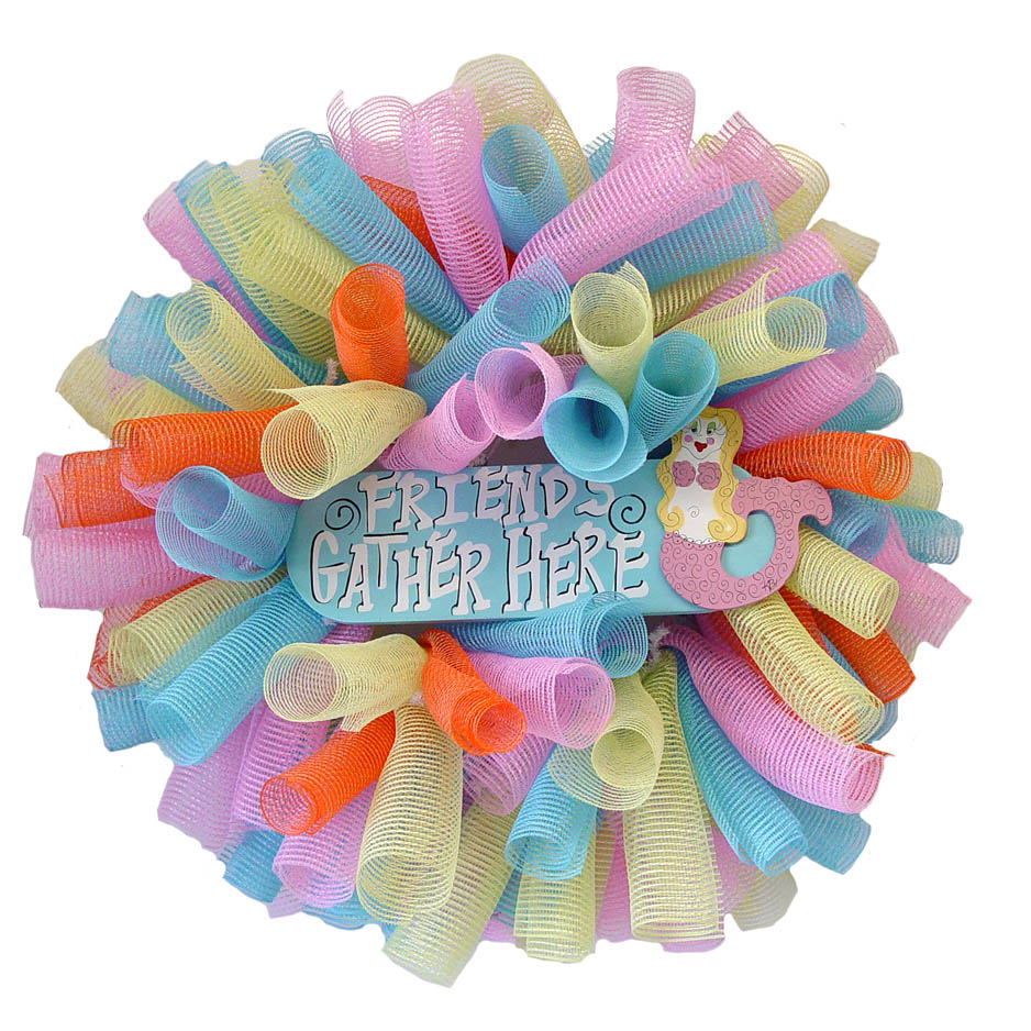 How to make a mesh wreath 30 diys with instructions guide patterns how to make a mesh wreath with 3 colors baditri Images