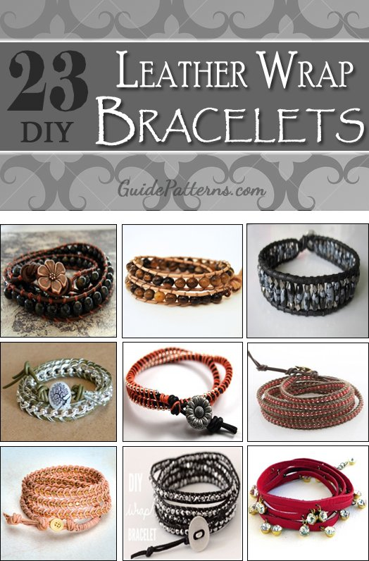23 Diy Leather Wrap Bracelet Patterns Guide Patterns