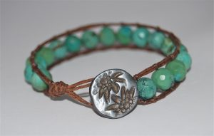 Leather Wrap Bracelet Instructions