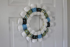 Baby Diaper Wreath Instructions