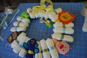 Baby Diaper Wreath Picture