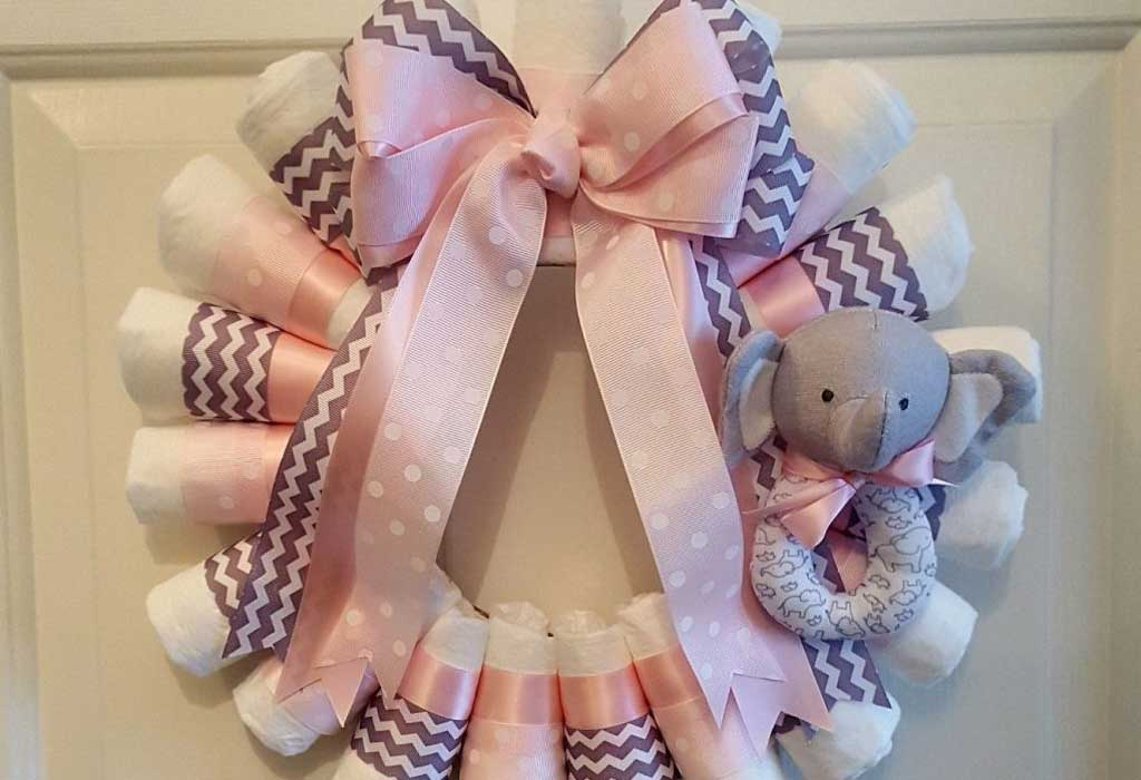 How To Make A Diaper Wreath With Instructions 30 Ways