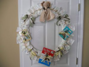 Baby Wreath Gifts Made from Nappies