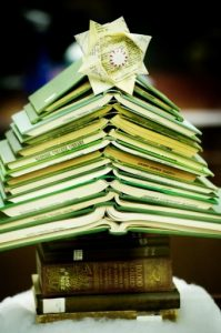 Book Christmas Tree Craft