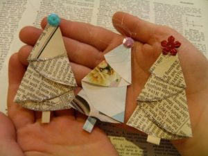 Book Christmas Tree Ornaments