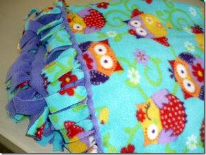 Braided Fleece Tie Blanket