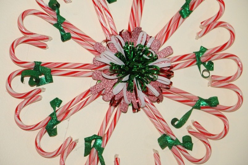 candy cane wreath christmas craft