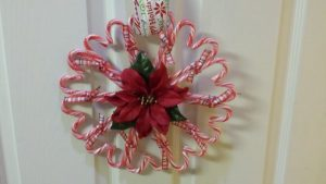 Candy Cane Wreath Decorations