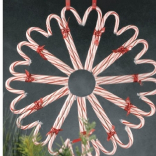 candy cane wreath instruction