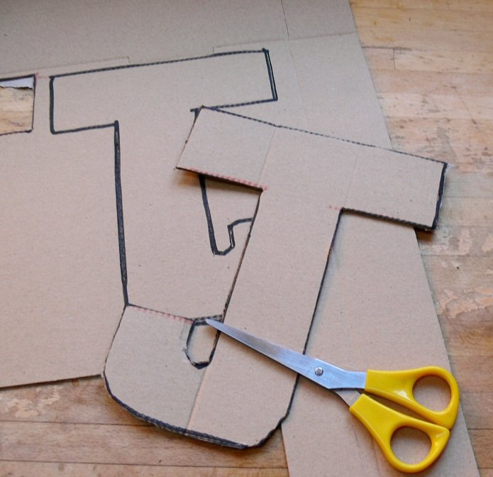 How To Make 3d Letters Out Of Cardboard