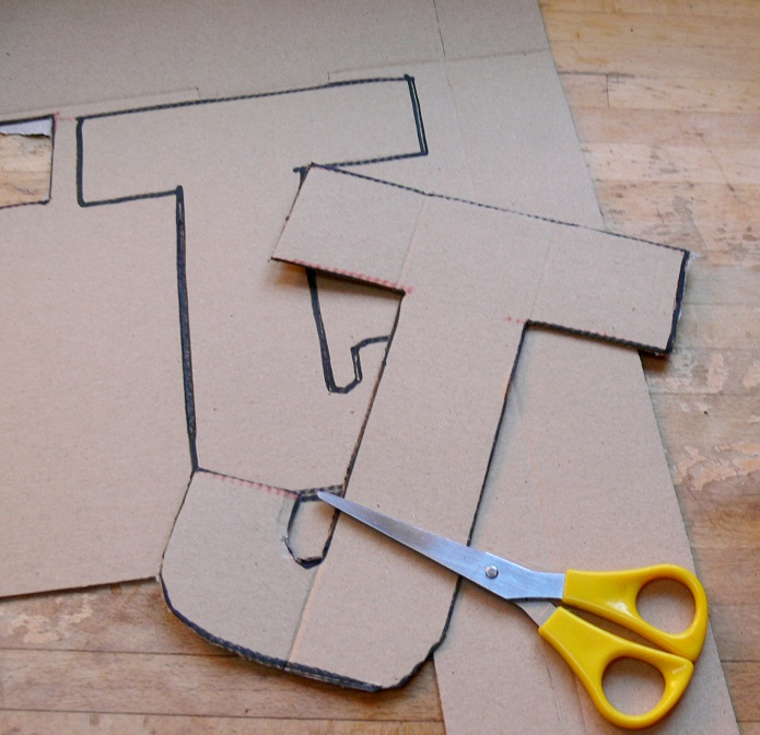 How to make 3d letters out of cardboard for How to make a letterbox out of cardboard