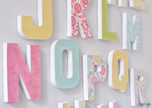 Cardboard Letters Decoration
