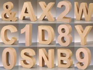 Cardboard Letters and Numbers for Nursery