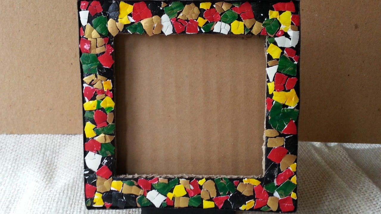 22 diy cardboard picture frames guide patterns for Waste materials at home