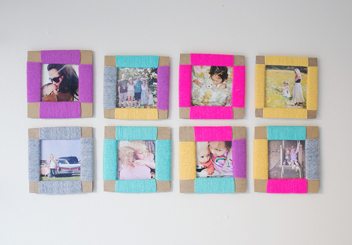 22 diy cardboard picture frames guide patterns cardboard picture frames cardboard picture frames homemade picture frame solutioingenieria Gallery