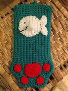 Cat Crochet Christmas Stockings