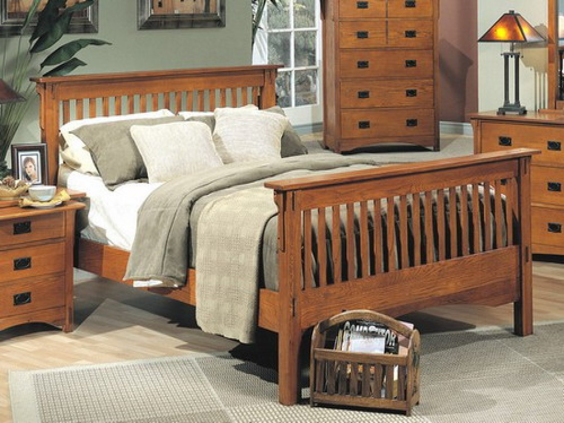 How to build a wooden bed frame 22 interesting ways for Mission style bed frame plans
