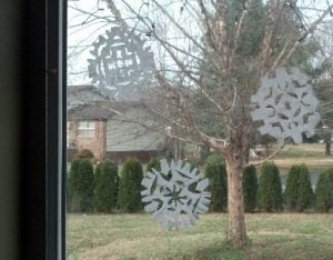 Coffee Filter Paper Snowflakes