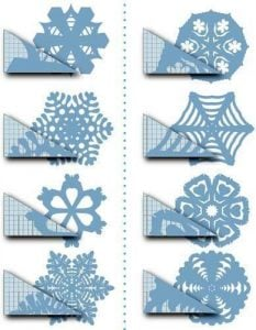 Coffee Filter Snowflakes Template