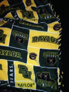 College Fleece Tie Blanket
