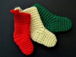 Crochet Christmas Stocking Decorations