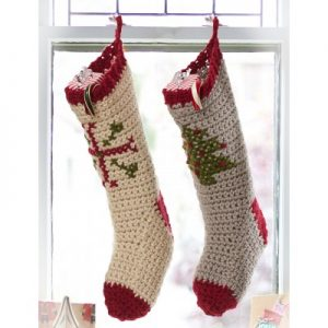 Cross Stitch Christmas Stockings to Crochet