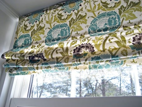 How to make no sew faux roman shades | worthing court.