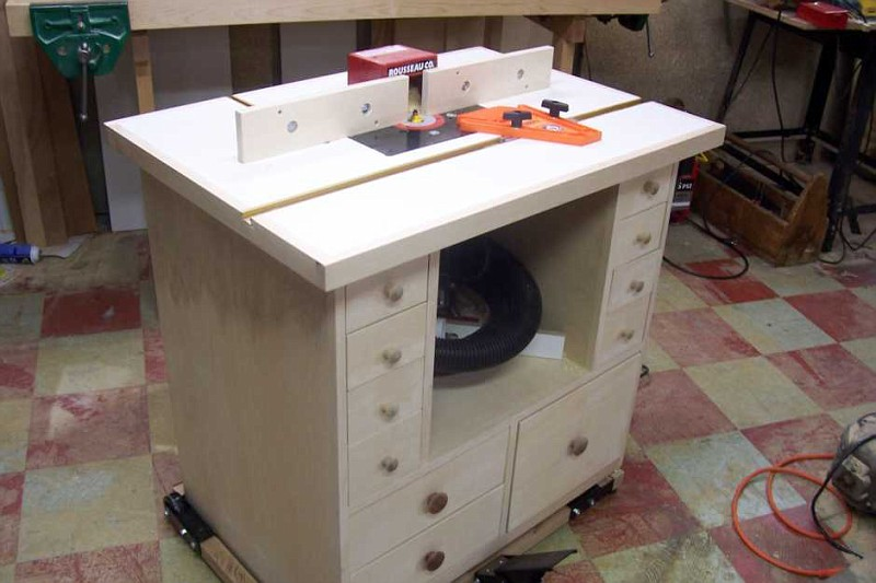 How to build a router table 36 diys guide patterns - Table de sciage maison ...