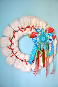 Diaper Wreath Gift