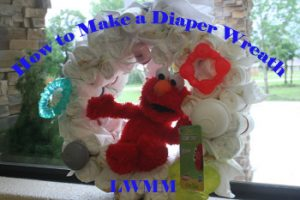 Diaper Wreath Idea