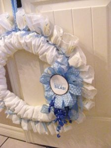 Diaper Wreath Instructions