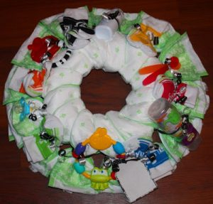 Diaper Wreath Tutorial