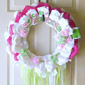 Diaper Wreath With Burlap