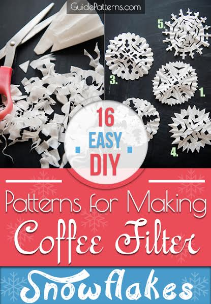 16 Easy Diy Patterns For Making Coffee Filter Snowflakes